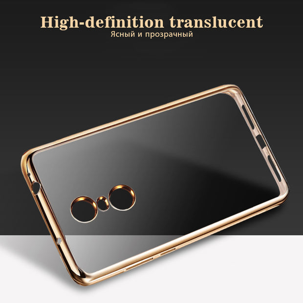 Soft Clear TPU Case For Xiaomi Mi5X Mi5s Mi6 Mi A1 Plating Back Cover For Xiaomi Redmi 3 4X Note 4X 4 Pro Phone Protector Shell