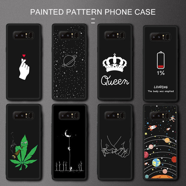 Soft Pattern Case For Samsung Galaxy S9 S8 Plus Note9 8 A6 A7 A750 2018 A8 Plus A9 A6S J8 J7 J4 J3 J6 Plus A5 2017 Silicone 2019