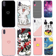Soft Phone Case For Fundas Iphone 8plus 7 6S 6 SE 5S 5 X 10 Silicona Thin Marble Cartoon Cat Back Bag Cover For Iphone Xs Max