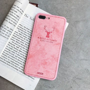 Soft Silicon Deer Phone Case For IPhone Xs Max XR X XS 8 PLUS 7 6S 6 Case Vintage Patterned Fashion Cute Back Cases Shell