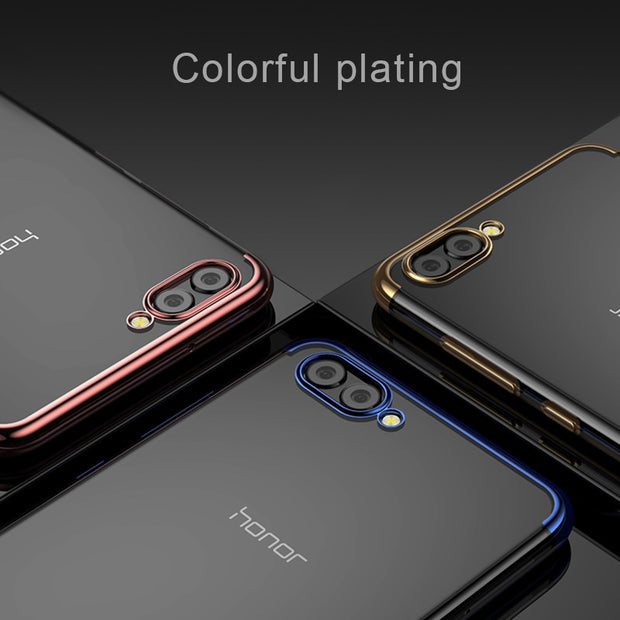 Soft Silicone Case For Huawei Honor 8X Max 9 10 Lite Plating TPU Phone Cover Cases For Honor Note 10 V9 V10 6C 8 Pro 8C Case