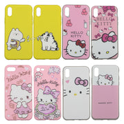 Soft TPU Case For IPhone 6 6S 7 8 Plus XR X XS Max Cases Love Hello Kitty Cat Cute Brats Mischief Cartoon Pink Phone Cover