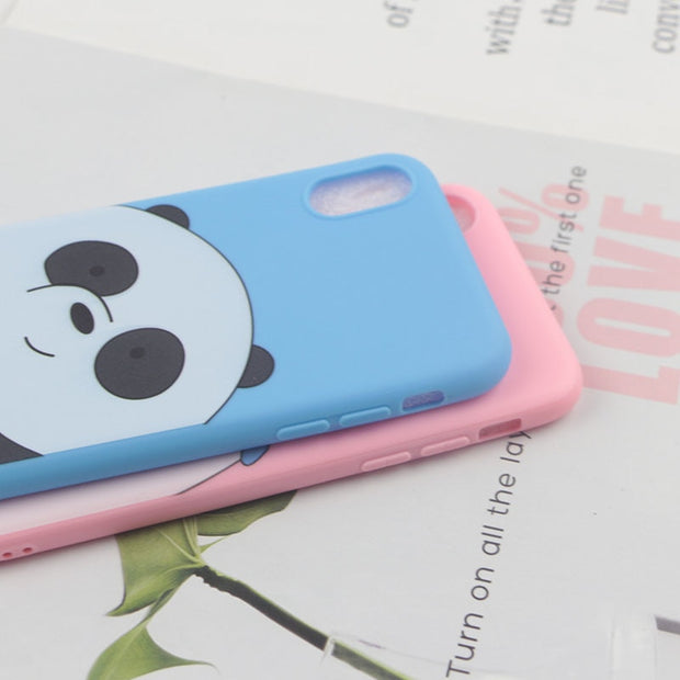 Soft TPU Case For IPhone XS Max 5 5S 6 6S 7 8 Plus XR X XS Cases Cute Cartoon Daisy Donald Duck Bear Polar Panda Minnie Girl