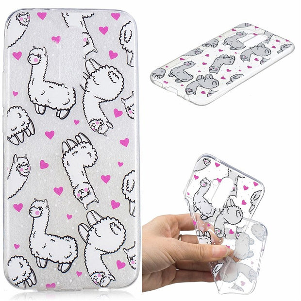 Soft TPU Cover For Huawei Mate 20 Lite Case Coque Transparent Cloud Unicorn Penguin Black Cat Koala Cactus Covers Cases