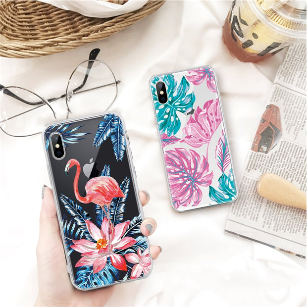 Soft TPU Pattern Phone Case For IPhone X 8 7 6 6s Plus 5 5s SE 4 4s For Samsung Galaxy S9 S8 Plus S9 S8 S7 S6 Protective Cover