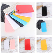 Soft TPU Phone Coque For Iphone 6s Plus Case Candy Color Beautiful Back Protective Fundas For Iphone 7 8 Plus 5 5s Se Bags
