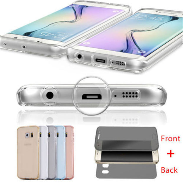 Soft TPU Silicone Case For Samsung Galaxy S10 S10Lite S3 S4 S5 S6 S7 S8 S9 Note3 4 5 G530 Note8 9 Case 360 Full Cover Protection