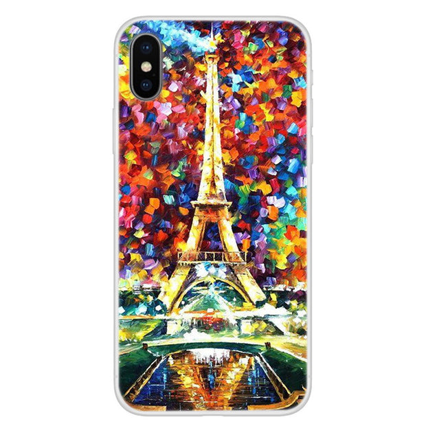 Soft TPU Silicone Cover For IPhone XS Max Case New Fashion Colorful Printing Coque For Iphone X S XR XS MAX Phone Back Cover