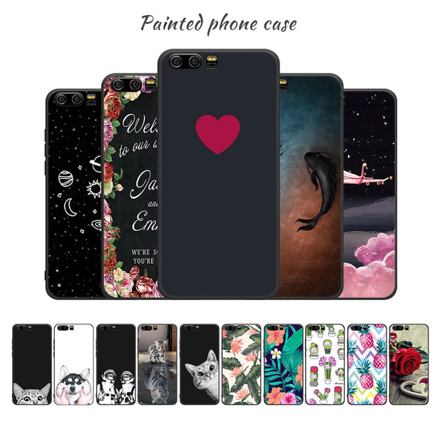 Soft TPU Silicone Phone Case For Huawei P20 Pro Y9 2018 P10 Mate 10 Lite P8 P9 Nova 2i Back Cover Case For Honor 9 Lite 8 Lite