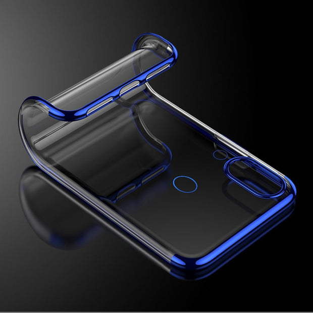 Soft TPU Transparent Clear Plating Cover For Huawei Mate20 Lite Honor Play Note 10 9i Mate10 P10 Plus P20 P9 P8 Lite 2017 Case