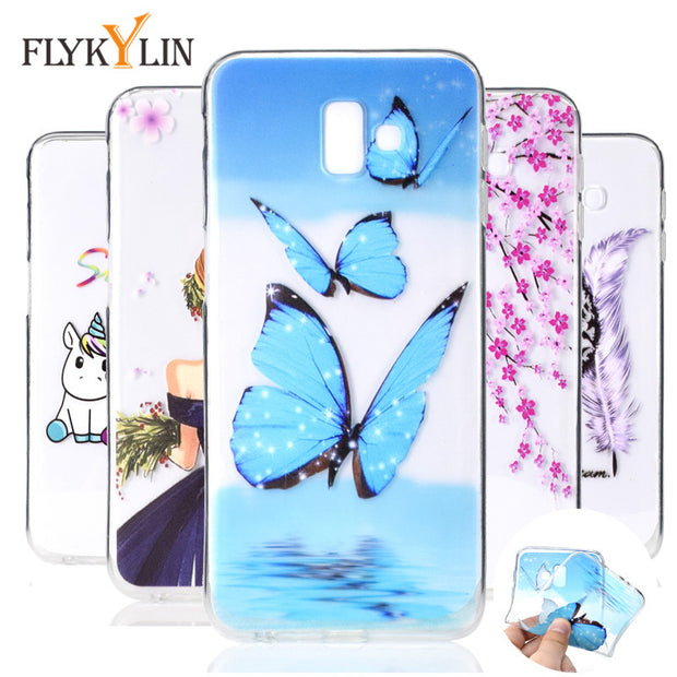 Soft TPU Case On For Fundas Samsung Galaxy J6 Plus 2018 Cover For Coque Samsung J6 Plus 2018 J610F J610 Silicone Phone Case Capa