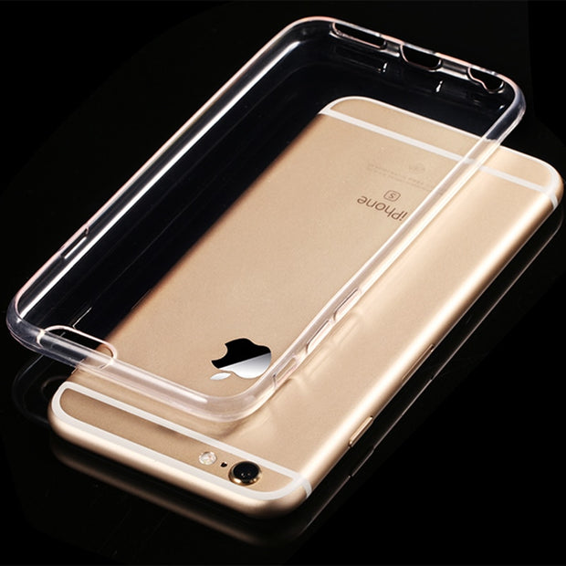 Soft Ultra Thin Phone Case For IPhone 5 5s 6 6s PLUS 4.7&5.5 Inch 7 Plus Clear Transparent Case Protection Cover For Apple Shell