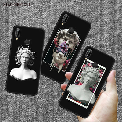 Soft Silicone For Huawe P20 Case Medusa Vaporwave Glitch Art Coque Phone For Huawei P8 9 10 20 Lite Plus Pro G10 Case Cover