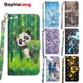 SophiaLong Cases For Leagoo M8 Pro Case Flip Leather Wallet Cover Bamper For Leagoo M8 Coque Capa Fundas With 3D Pretty Pattern
