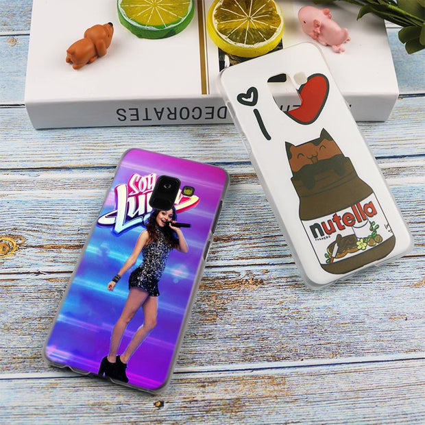Soy Luna Hot Fashion Transparent Case For Samsung Galaxy A3 A5 A9 A7 A6 A8 Plus 2018 2017 2016 Star A6S Note 9 8 Cover