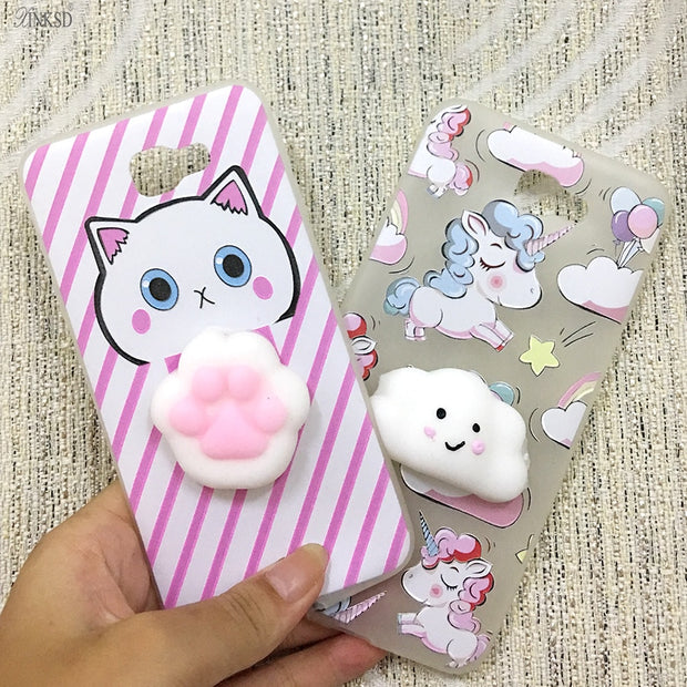 innovative design bb0f4 f987c Squishy Lovely 3D Animals Seal Phone Cases For Samsung Galaxy J5 Prime Cat  Soft TPU Back Cover Capa J5 Prime Squishy Case