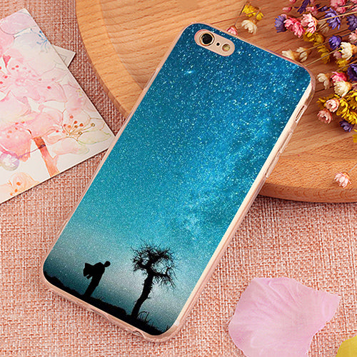 Starlight Silhouette Pattern Phone Case Cover For IPhone
