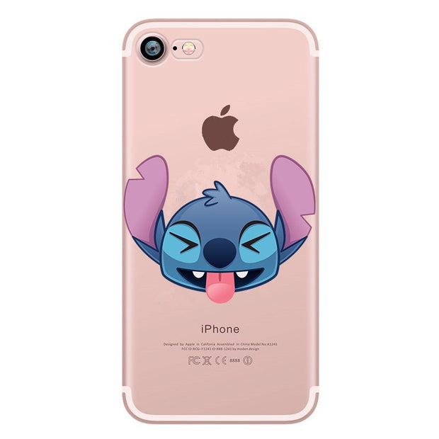 Stitch Case For IPhone 6S Case Silicone For Funda IPhone 7 Soft TPU For Coque IPhone X 7 8 Plus X 5 5S SE Back Cover