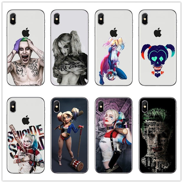 Suicide Squad Joker Harley Quinn Margot Robbie Cell Silicone Soft TPU Phone Cover Case For IPhone 4 5 6 7 8 Plus X Fundas Coque