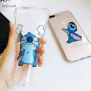 Super Cute Cartoon TPU Phone Capa Case For IPhone X XR XS MAX Cases Silicone Transparent For IPhone 6 S 6S 7 8 Plus Cover Funny