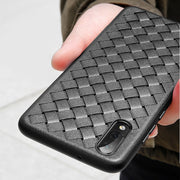 Super Soft Phone Case For Huawei P20 Lite Luxury Grid Weaving Case For Huawei P20 Pro Plus P 20 Lite P20pro Cover Silicone Black