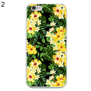 Sweet Yellow Flowers Phone Case Cover For IPhone 6 6S 7 Plus