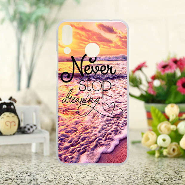 TAOYUNXI DIY Painted Silicone Plastic Phone Covers Cases For Lenovo Z5 Bag Shock-Proof Cover For Lenovo Z5 6.2 Inch