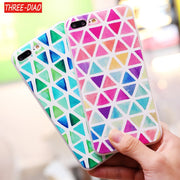 THREE-DIAO Marble Stone Case For IPhone 5 5S SE Colorful Painted Soft Silicone Cover For IPhone 6 6S 7 8 Plus Funda Capa Back