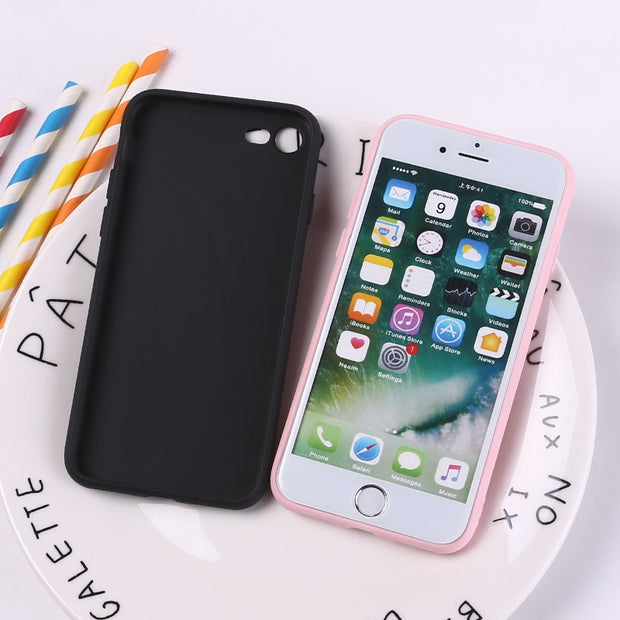TOMOCOMO For IPhone 8 8Plus X 7 7Plus Soft TPU Silicone Matte Case Girl Sticker Memes Cool Quote Funny Words For XS Max X XR