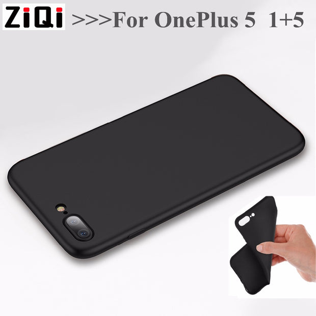TPU Case For Oneplus 5 Oneplus5 A5000 1+5 Back Cover Soft Phone Cases Protective Capas Black Covers One Plus 5 1 Plus 5 Shell