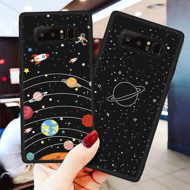 TPU Pattern Case For Samsung Galaxy A7 2018 A750 A5 2017 A6S A8 A6 Plus A9 2018 Cover Soft TPU Phone Cases Star Cartoon Bags