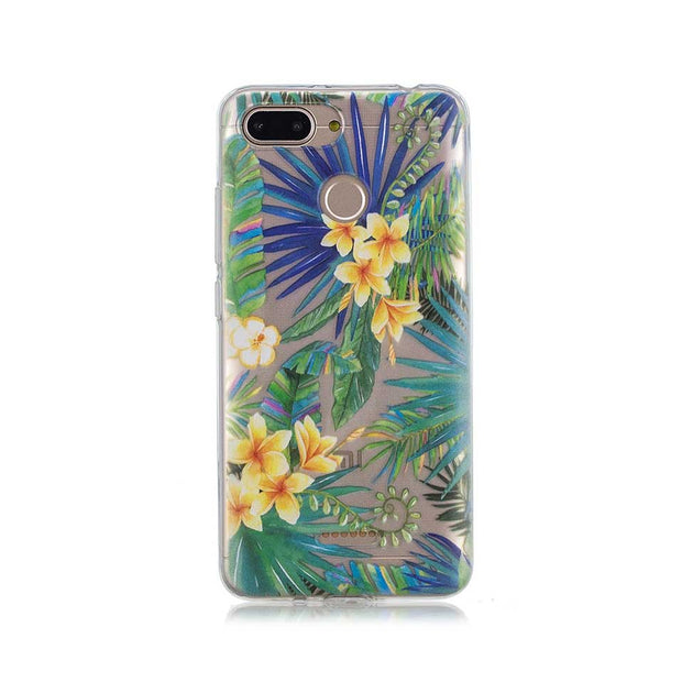TPU Phone Case For Xiaomi 6 5X Summer Green Leaves Cover Cases For Redmi 4A 5 5A 6 6A Capa Funda For Redmi Note 4 4X 5 5A Coque