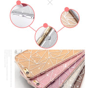 TPU Phone Case For IPhone 8 7 6 6s Plus Flashing Rhombic Geometry Dazzling Fashion Shining Glitter For IPhone X 8 7 Capa Coque