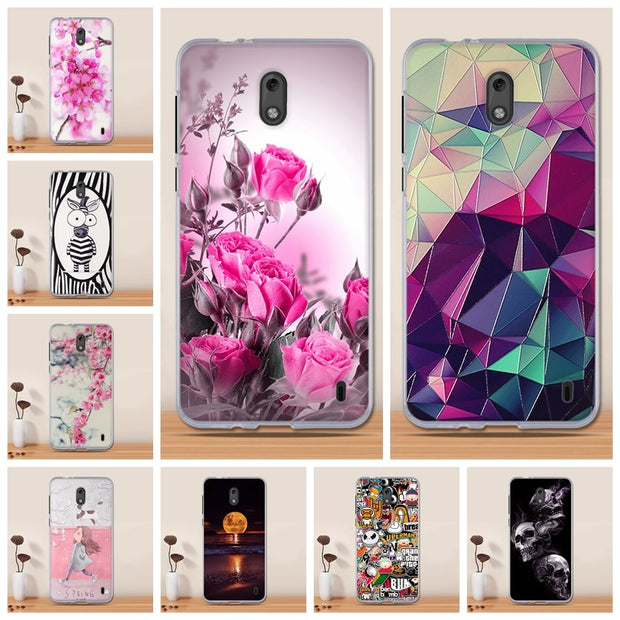 TPU Silicone Case For Nokia 2 Case Cover Coque For Nokia 2 Cover Printing Capa Soft Fundas For Nokia2 Phone Cover Coque Shell