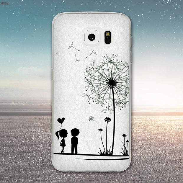 TPU Soft Case For Samsung Galaxy S6 G920 SM-G920F Transparent Printing Drawing Silicone Phone Cases Cover For Samsung Galaxy S6