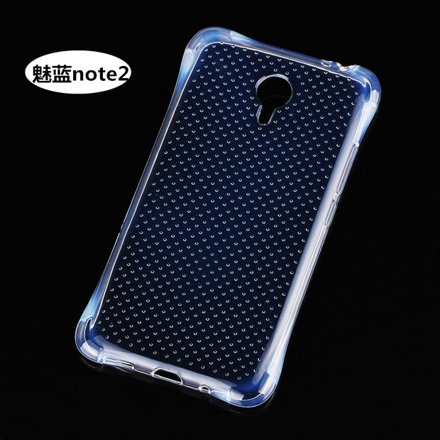 TPU Transparent Arc Design Case Cover For Meizu M2 Note Anti Knock Shock Proof Mobile Phone Shell/Bag Capa De Celular