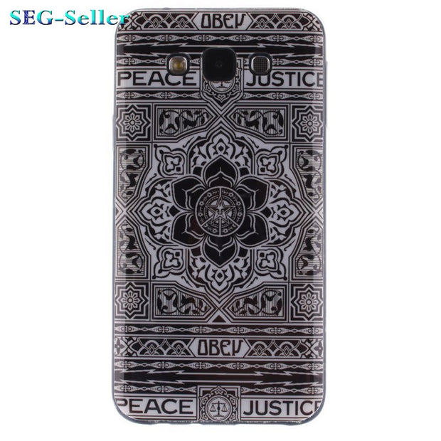 TUKE For Samsung Galaxy E5 Ultra Thin Case Fashion Phone Cover Painting Patterned Slim Soft Silicone TPU E500 Case Cover