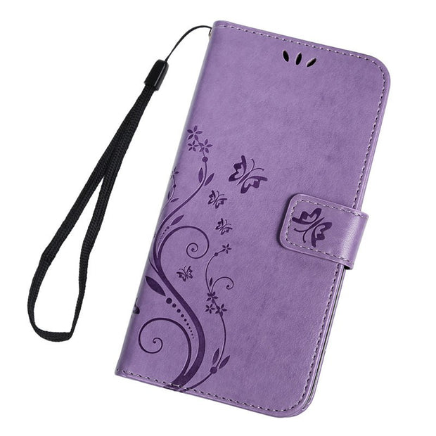TURATA Butterfly Magnetic Flip Leather Case Capa For Xiaomi Mi8 Mi 8 Card Holder Stand Cases Fundas Coque For Xiaomi Mi8 Mi 8