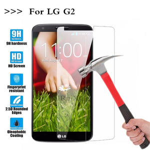 (TaiRuiXing) Screen Protector Film 0.3mm 9H 25D Front Premium Tempered Glass For LG G2 Optimus D801 F320 D802 LS980 Cover
