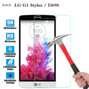 (TaiRuiXing) Screen Protector Film 0.3mm 9H 25D Front Premium Tempered Glass For LG G3 Stylus D690N D690 Cover