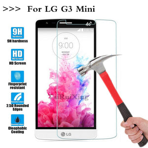 (TaiRuiXing) Screen Protector Film 0.3mm 9H 25D Front Premium Tempered Glass For LG G3 Mini G3S G3 Beat D722 D725 D728 D724