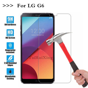 (TaiRuiXing) Screen Protector Film 0.3mm 9H 25D Front Premium Tempered Glass For LG G6 H870 5.7 Inch