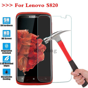 (TaiRuiXing) Screen Protector Film 0.3mm 9H 25D Front Premium Tempered Glass For Lenovo S820 S 820 Cover