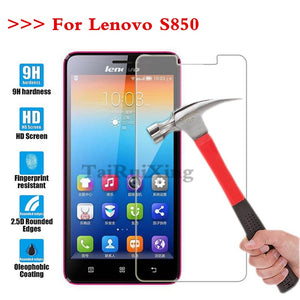 (TaiRuiXing) Screen Protector Film 0.3mm 9H 25D Front Premium Tempered Glass For Lenovo S850 S 850 Cover