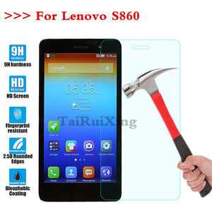 (TaiRuiXing) Screen Protector Film 0.3mm 9H 25D Front Premium Tempered Glass For Lenovo S860 S 860 Cover