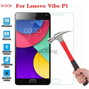 (TaiRuiXing) Screen Protector Film 0.3mm 9H 25D Front Premium Tempered Glass For Lenovo Vibe P1 Cover
