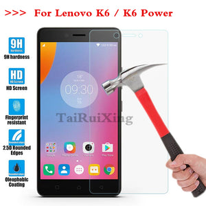 (TaiRuiXing) Screen Protector Film 0.3mm 9H 25D Front Premium Tempered Glass For Lenovo Vibe K6 K6 Power 5.0 Inch Cover