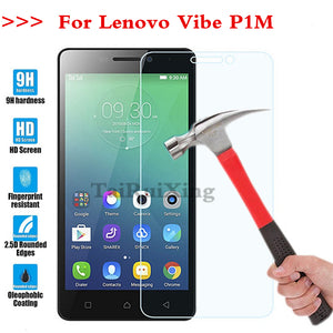 (TaiRuiXing) Screen Protector Film 0.3mm 9H 25D Front Premium Tempered Glass For Lenovo Vibe P1M P1m Cover