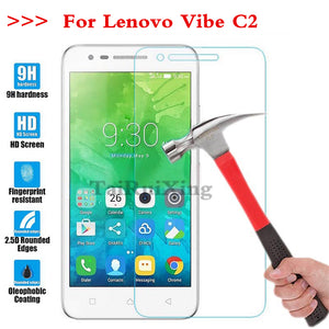 (TaiRuiXing) Screen Protector Film 0.3mm 9H 25D Front Premium Tempered Glass For Lenovo Vibe C2 K10a40 5.0 Inch Cover
