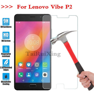 (TaiRuiXing) Screen Protector Film 0.3mm 9H 25D Front Premium Tempered Glass For Lenovo Vibe P2 Cover